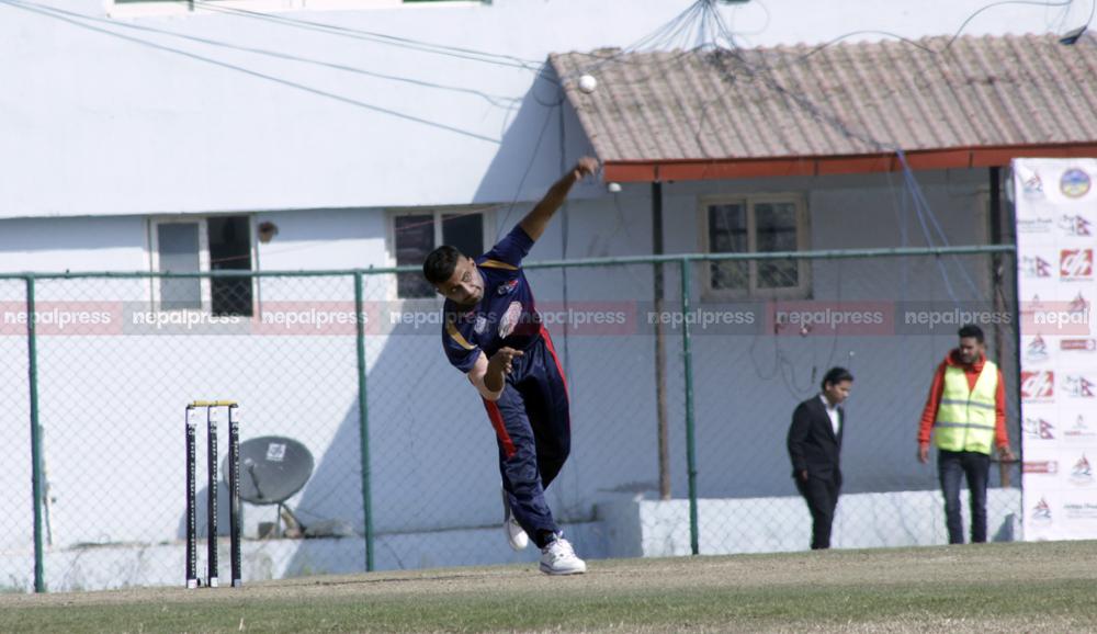 त्रित्रुवन आर्मी ८७ रनमा अल आउट, सागरले लिए ५ विकेट