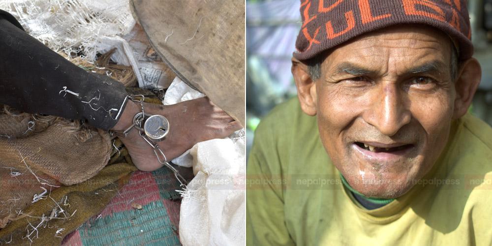 साङ्लोमुक्त भएसँगै भीमबहादुरको मुहारमा छाएको खुसी
