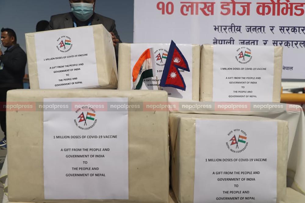 भारतबाट थप १० लाख डोज कोरोना खोप आज नेपाल ल्याइँदै