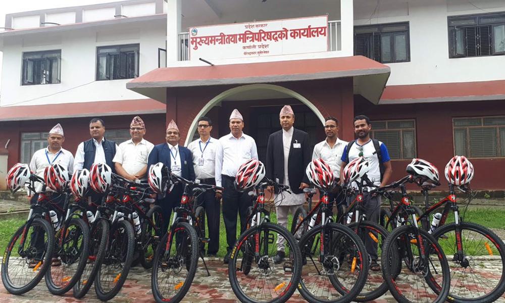 कर्णाली सरकारको 'साइकल अभियान'मा कर्मचारीकै असहयोग