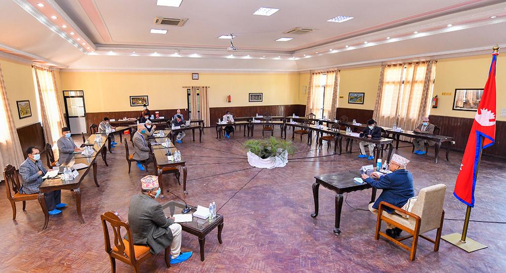 मन्त्रिपरिषद् बैठक– राष्ट्रियसभा अधिवेशन आज मध्यरातिबाट अन्त्य