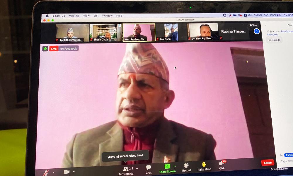 गैरआवसिय नेपाली संघको विशेष महाधिवेशन सुरु, परराष्ट्रमन्त्रीले गरे भर्चुअल सम्बोधन
