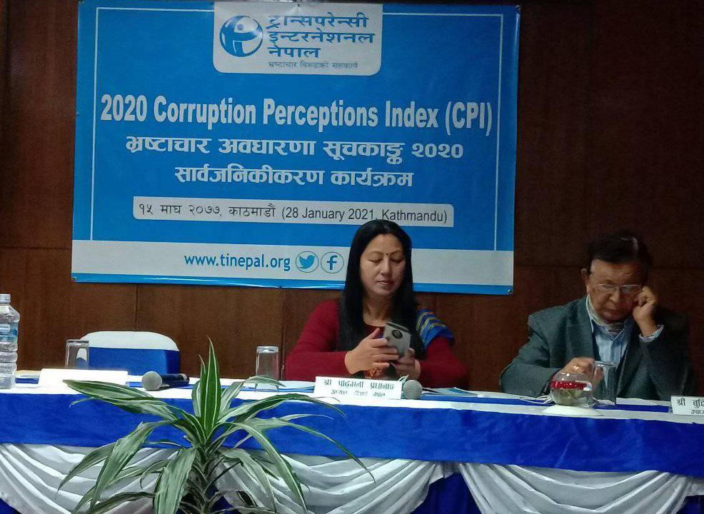 नेपालमा भ्रष्टाचार झन बढ्यो : ट्रान्सपरेन्सी इन्टरनेशनल
