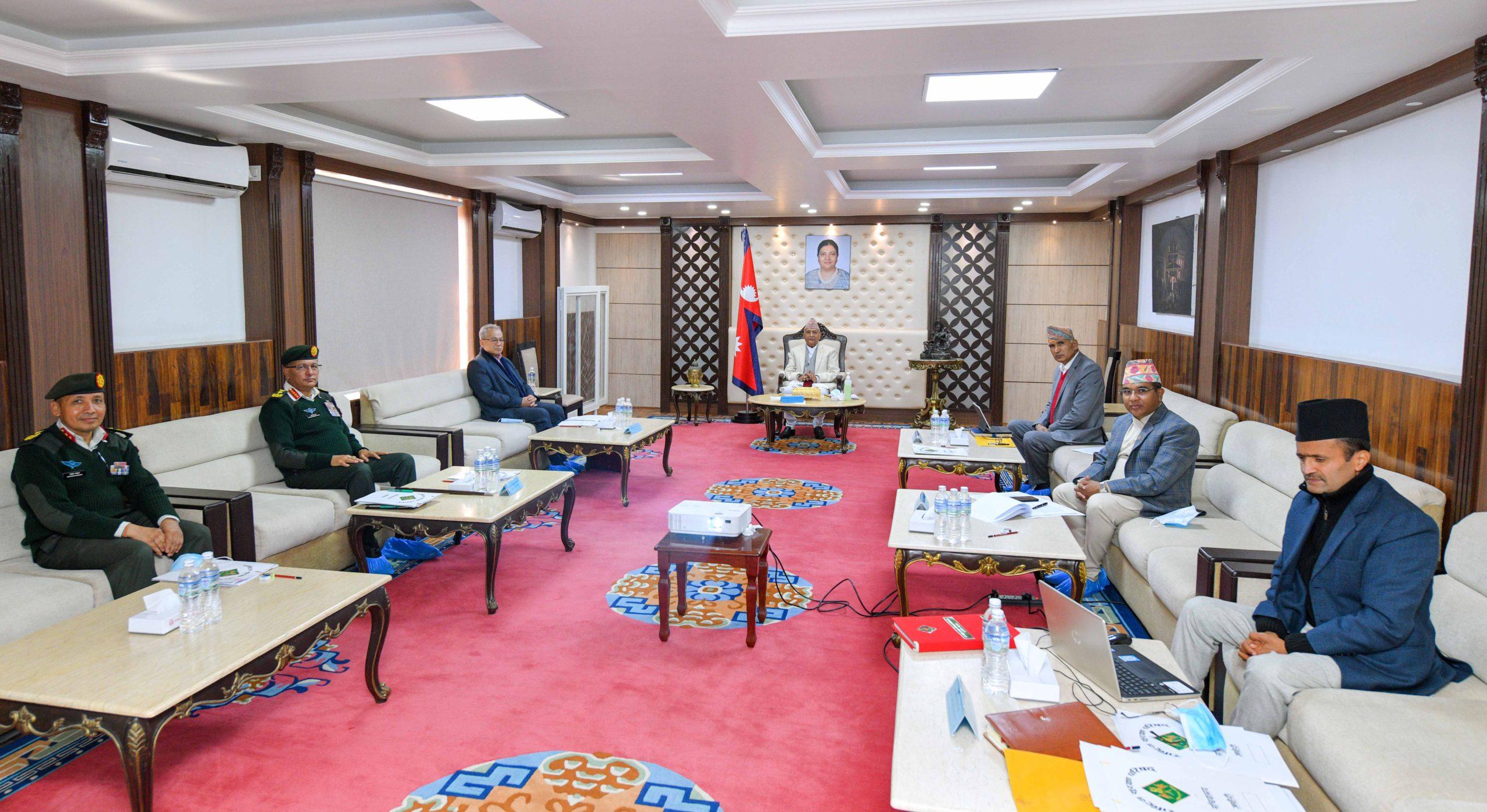 सुरक्षा परिषद् बैठकमा निर्वाचन सुरक्षाको विषयमा छलफल