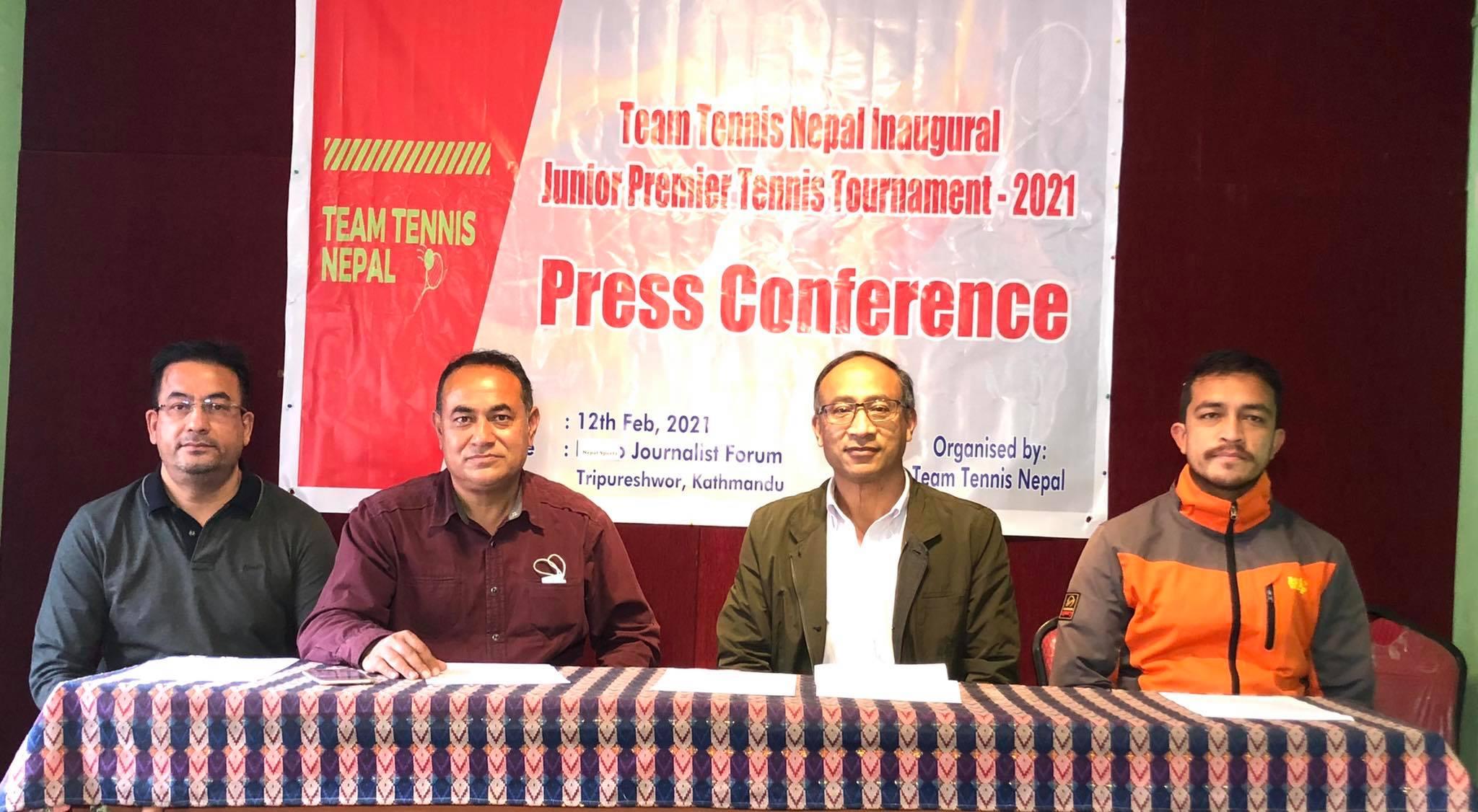 टिम टेनिस नेपाल इनअगरल जुनियर प्रिमियर टेनिस प्रतियोगिता फागुन २ देखि