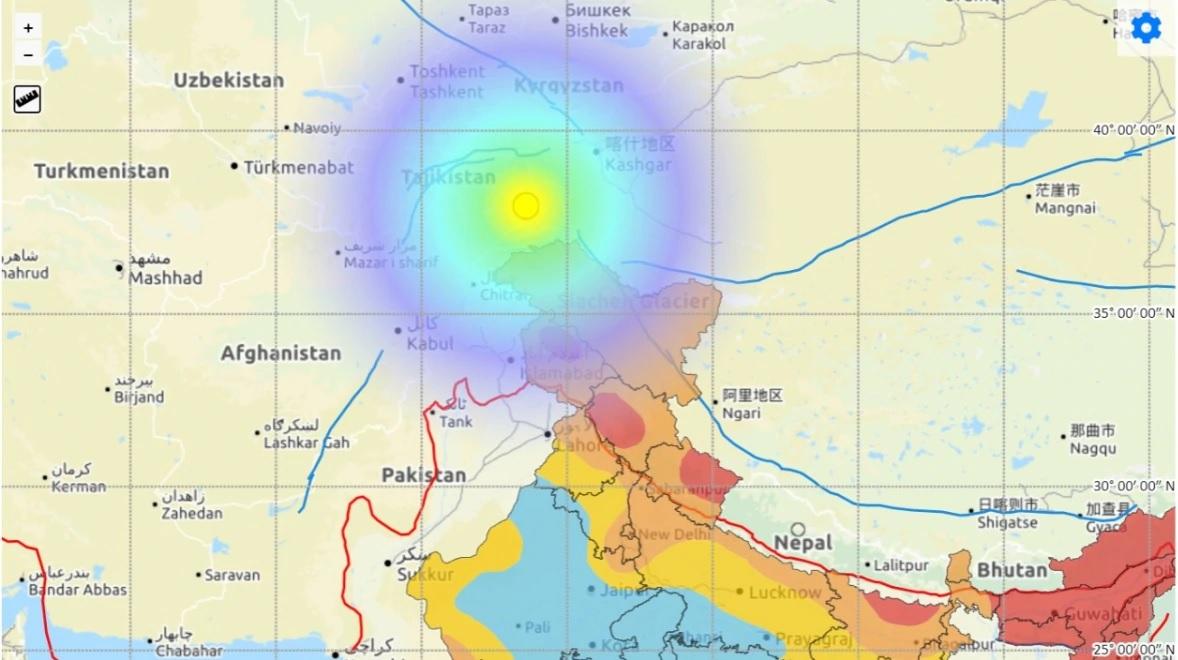 ताजिकिस्तानमा गएको भूकम्पले उत्तर भारत हल्लियो
