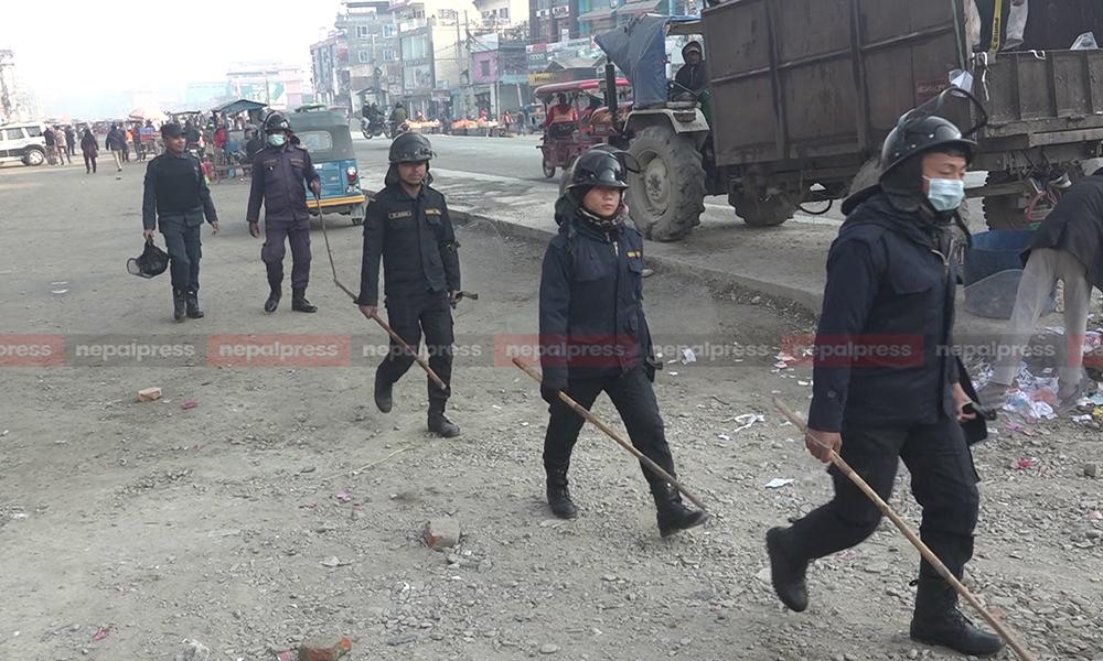 नेपाल बन्द लक्षित गरी विराटनगरमा १० हजार सुरक्षाकर्मी परिचालन