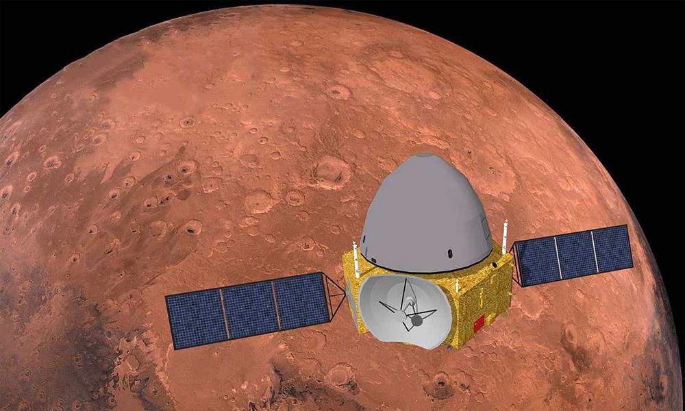 चिनियाँ अन्तरिक्ष यान मंगलको कक्षमा प्रवेश, सतहमा ल्यान्ड गर्ने तयारी