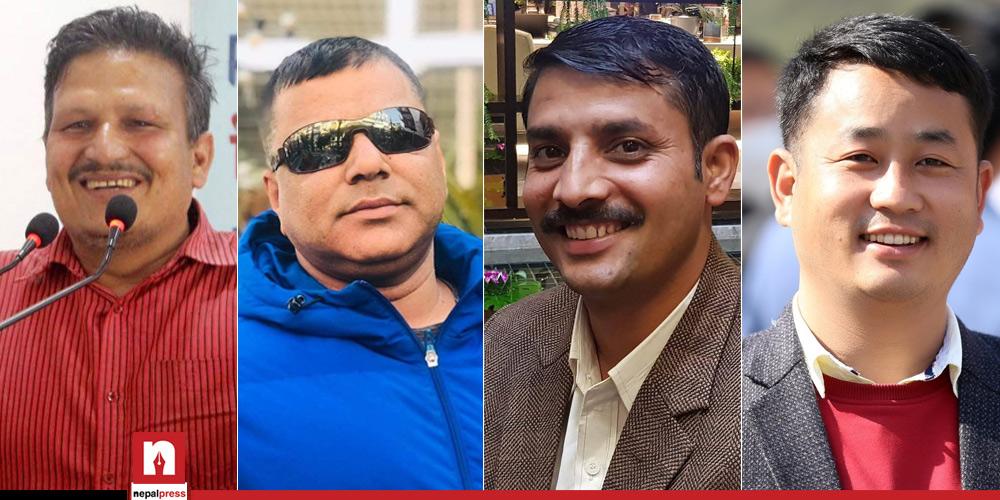 प्रचण्ड-माधव पक्षीय प्रेस संगठनको नेतृत्वमा को को आए ?