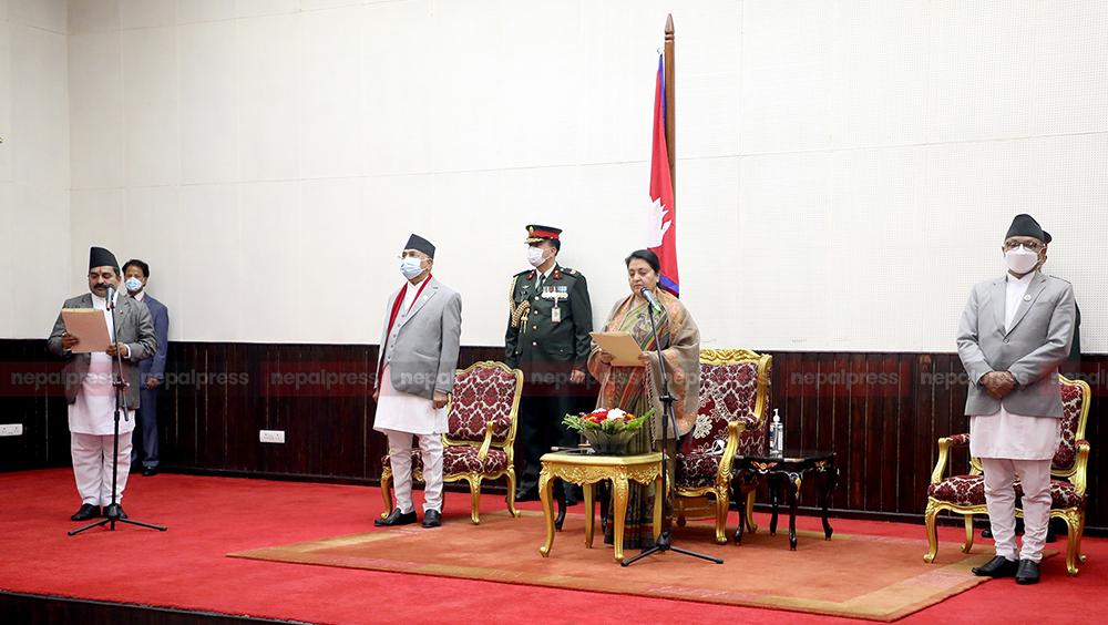 प्रदेश २ प्रमुख झाले लिए शपथ, उपराष्ट्रपति र सभामुख गएनन्