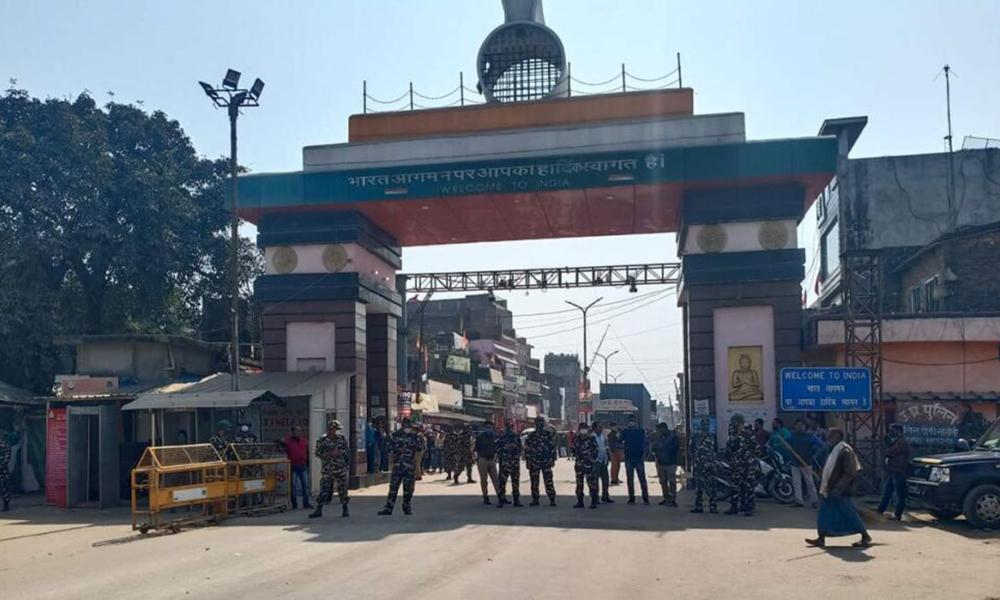 सुनौलीमा एसएसबीको ज्यादतीविरुद्ध स्थानीयको प्रदर्शन