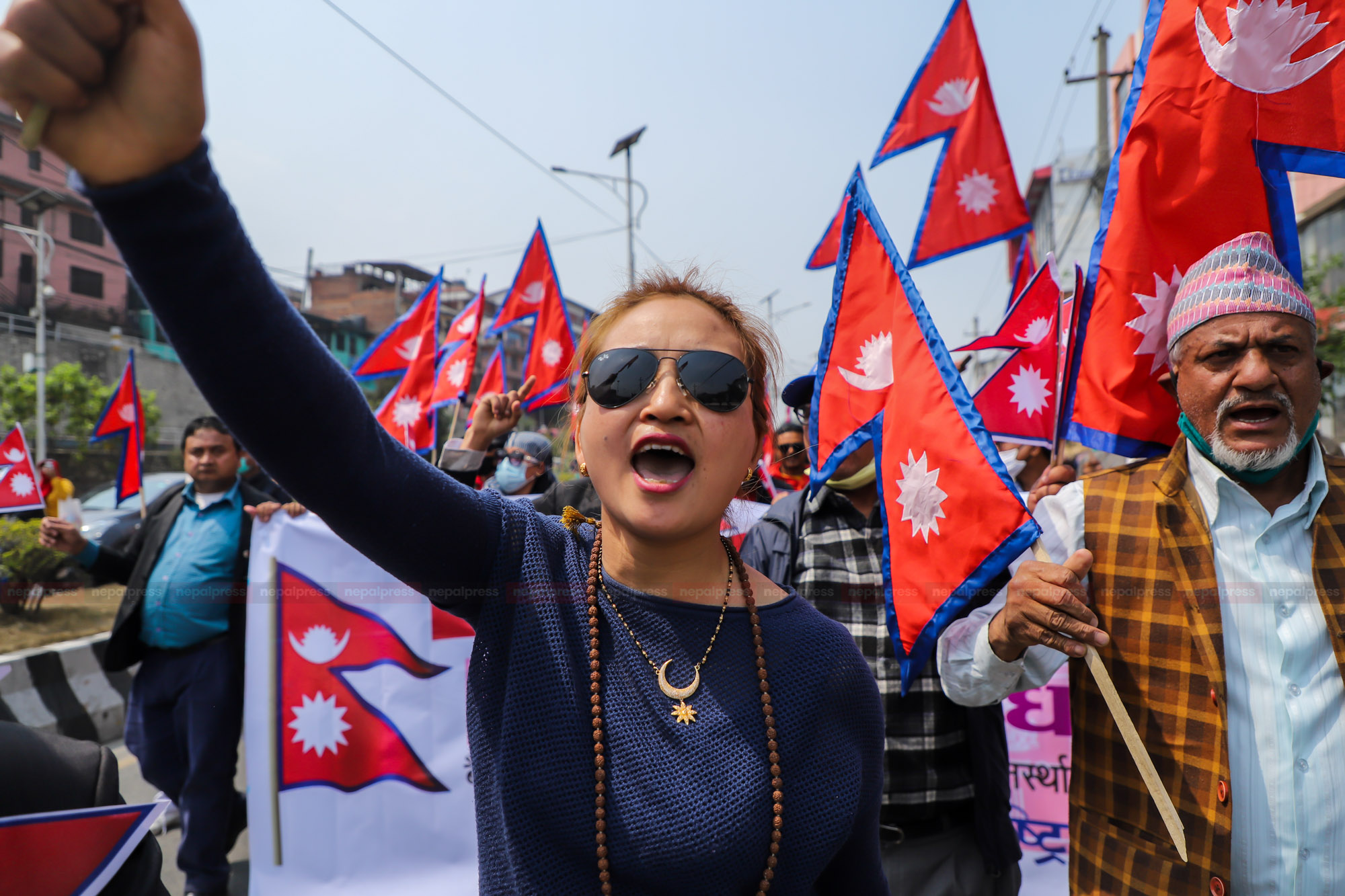हिन्दू राज्य र राजसंस्था पुनःस्थापनाको माग गर्दै प्रदर्शन (फोटो फिचर)