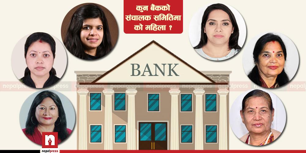 'क' वर्गका ८ बैंकको सञ्चालक समिति महिलाविहीन