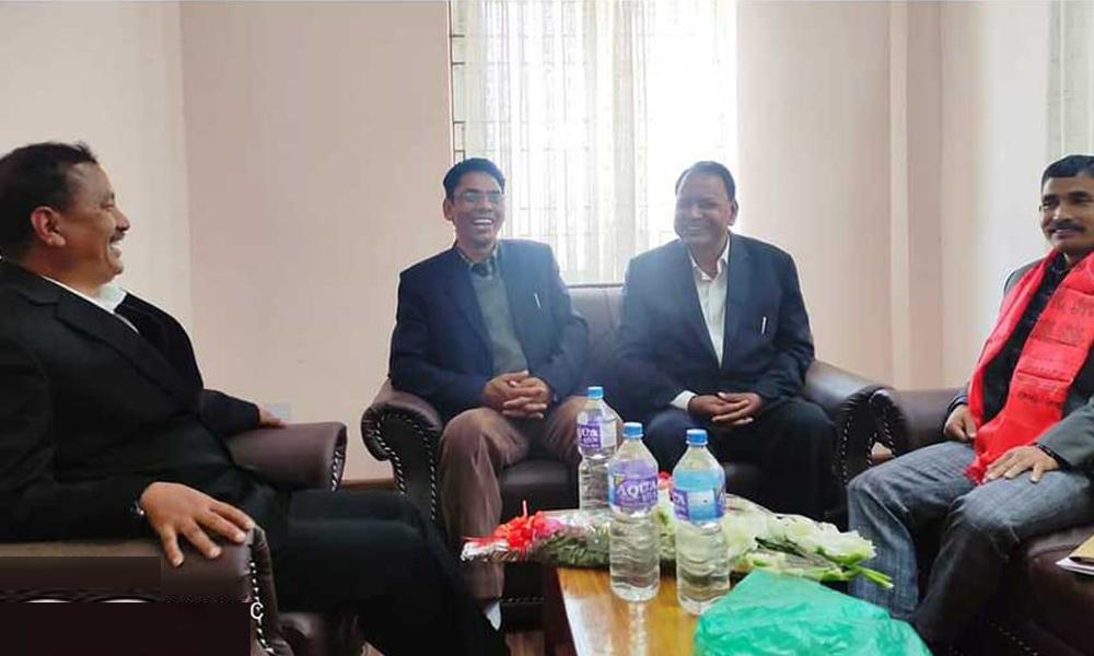 नेता सुदर्शनलाई भेट्न नख्खु कारगारमै पुगे विप्लव