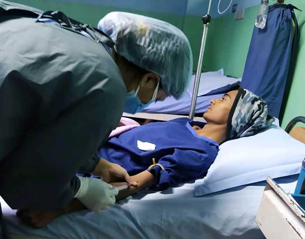 क्यान्सरपीडित बालकको उपचारका लागि सहयोग माग