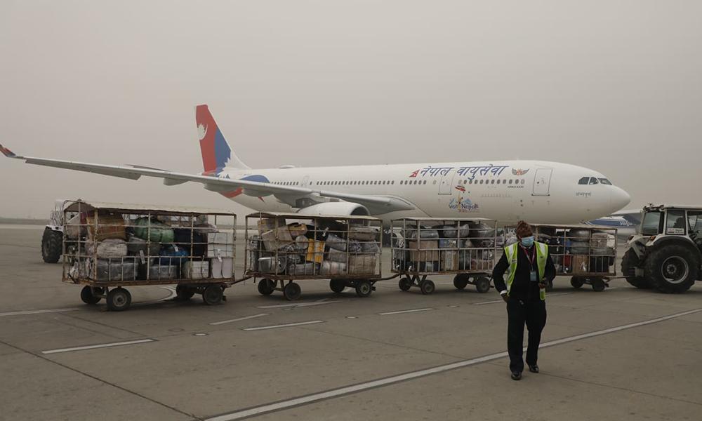 भेरोसेल खोप लिन आज बेइजिङ जाँदै नेपाल एयरलाइन्सको जहाज