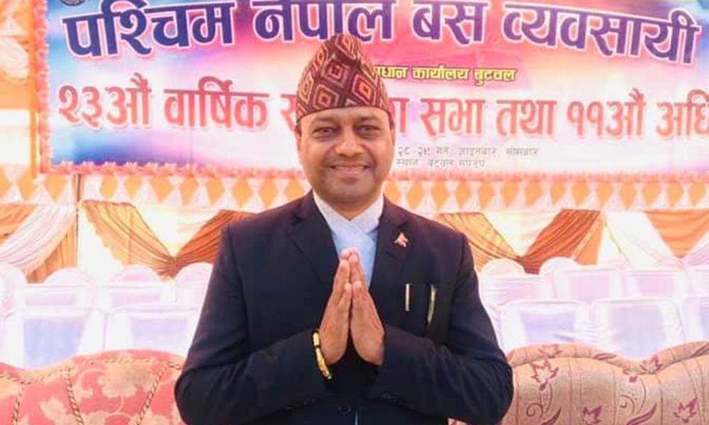 दधिराम खरेल पश्चिम नेपाल बस व्यवसायी प्रालीको अध्यक्ष बन्ने पक्का