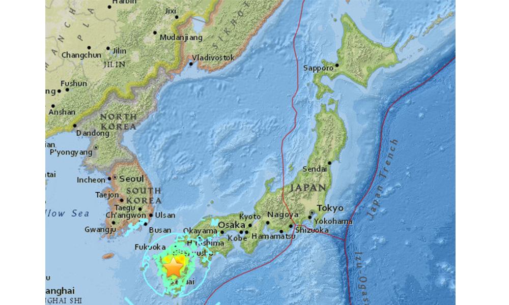 जापानमा शक्तिशाली भूकम्प, सुनामीको चेतावनी