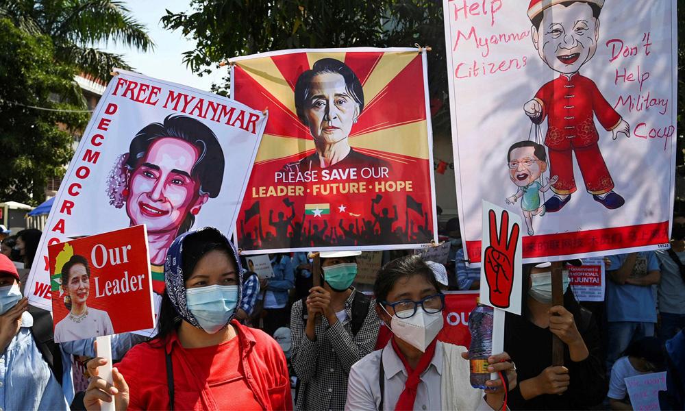 म्यानमार : प्रहरीको गोलीले १८ प्रदर्शनकारीको मृत्यु