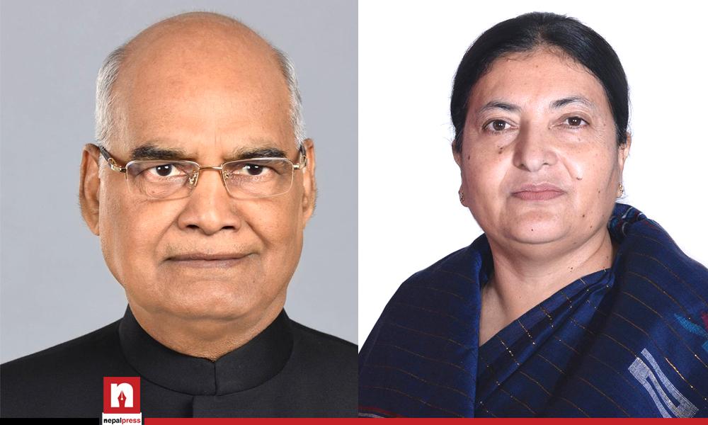 राष्ट्रपति भण्डारीद्वारा भारतीय समकक्षीलाई पत्राचार, खोप उपलब्ध गराइदिन विशेष आग्रह