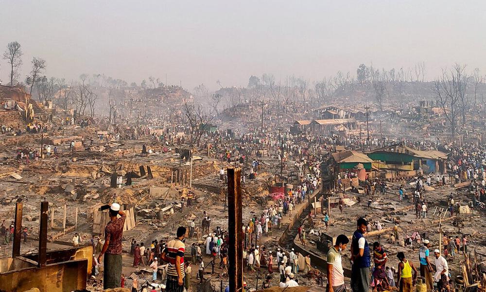 बंगलादेशको रोहिङ्ग्या शिविरमा भीषण आगलागी, कम्तीमा १५ शरणार्थीको मृत्यु