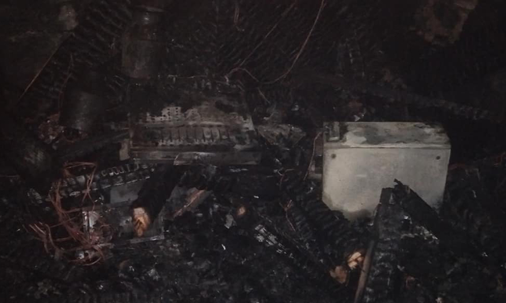 सोलु एफएममा आगलागी, १ करोड बराबरको क्षति