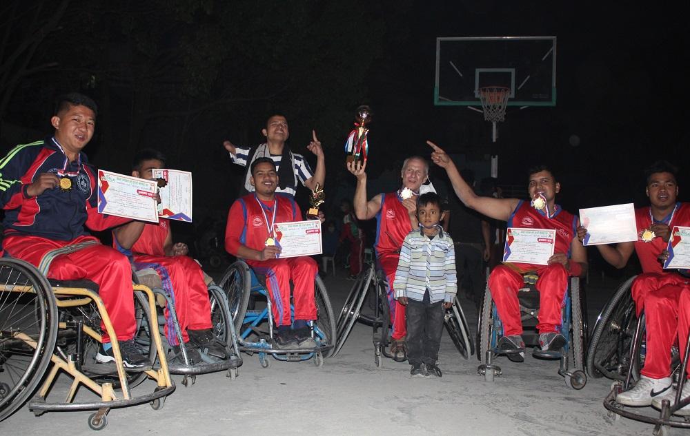 स्पाइनल कर्ड इन्जुरी ह्वीलचेयर बास्केटबल प्रतियोगिता सम्पन्न