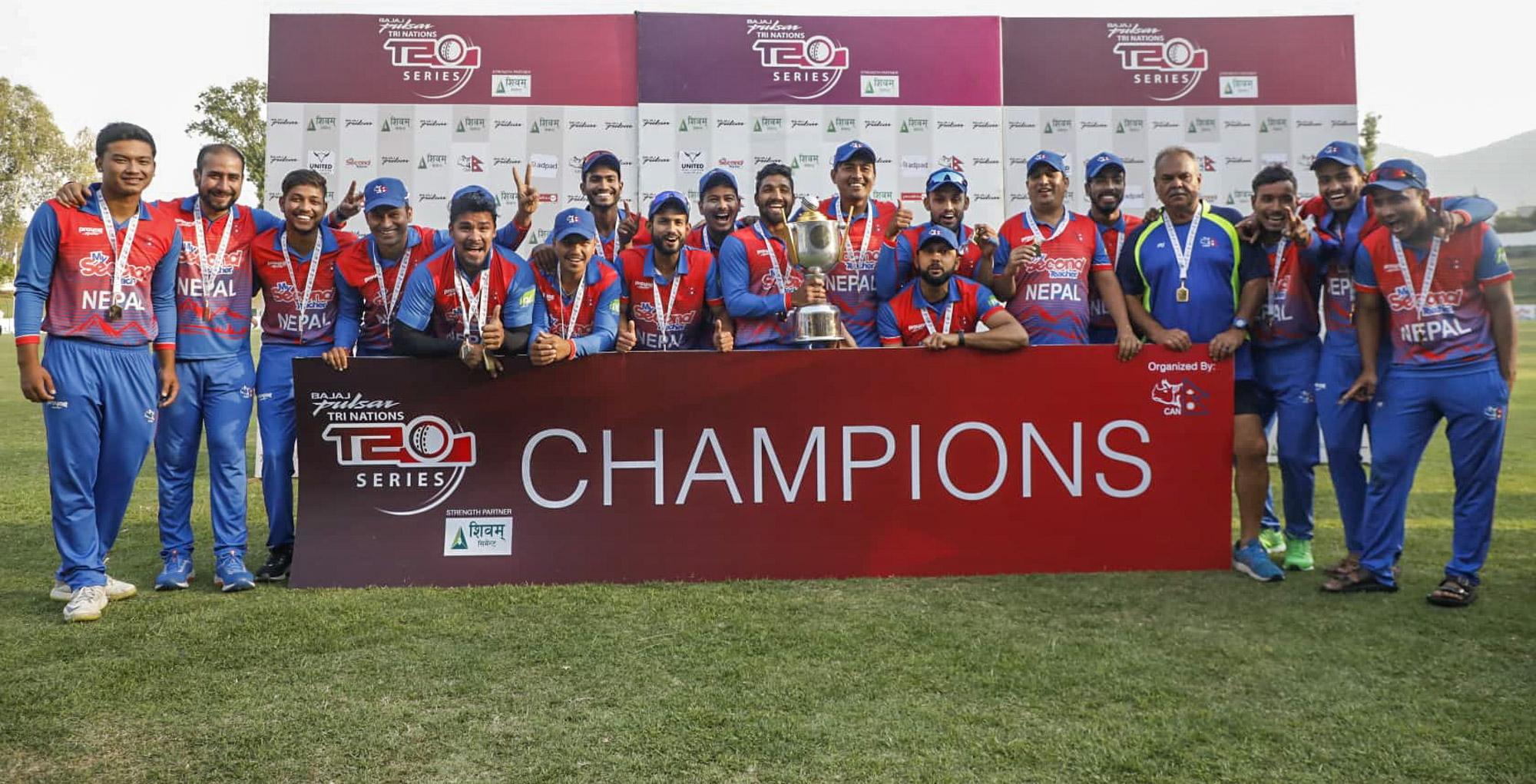 त्रिकोणात्मक टी-२० सिरिज : नेपालका लागि कीर्तिमानको उत्सव