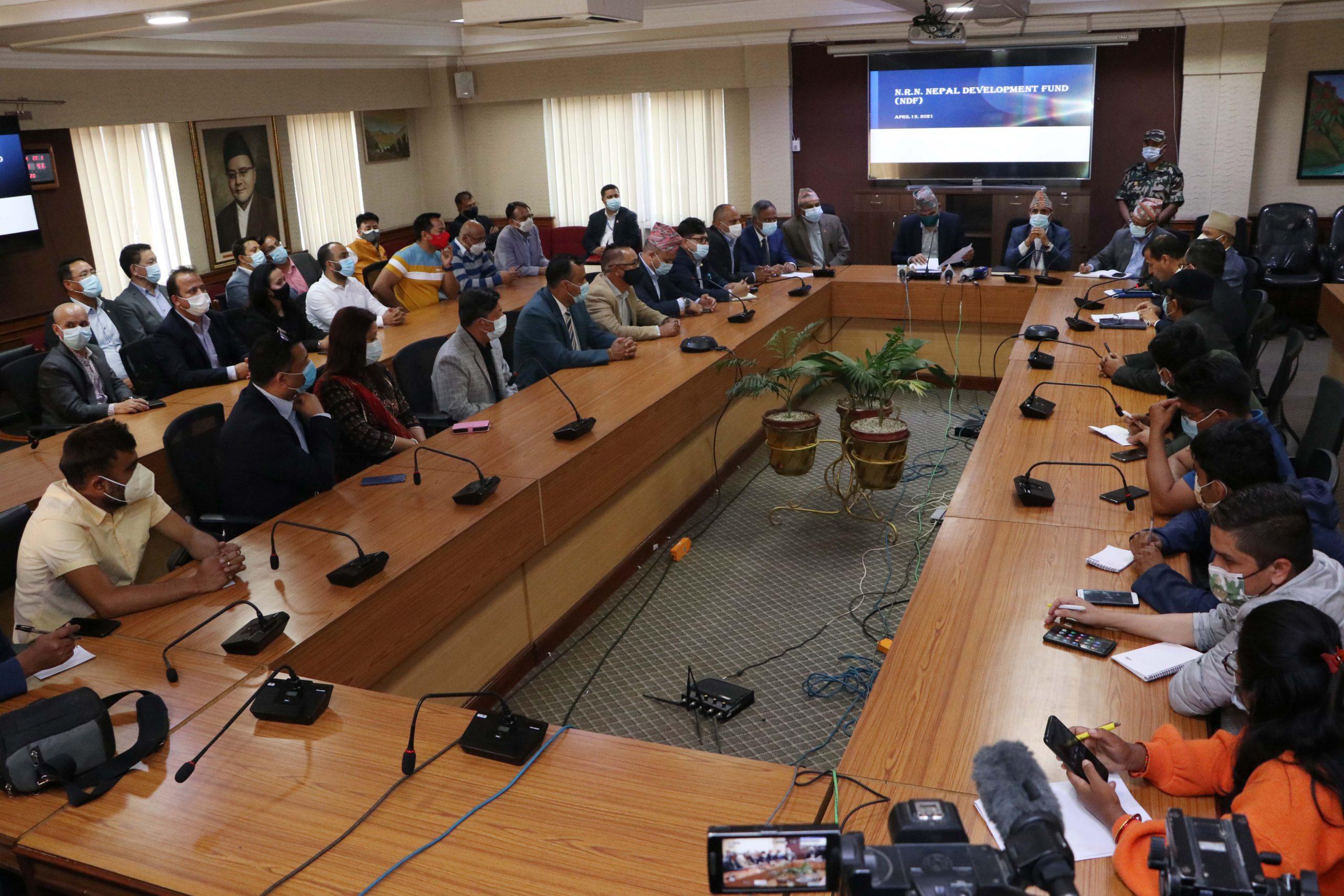 १० अर्ब रुपैयाँ पूँजीको एनआरएन नेपाल डेभलमेन्ट फण्ड स्थापना
