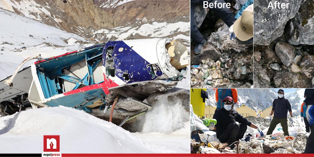धौलागिरी हिमालमा भेटियो १५ वर्षअघि हराएको हेलिकप्टर र मानव अवशेष