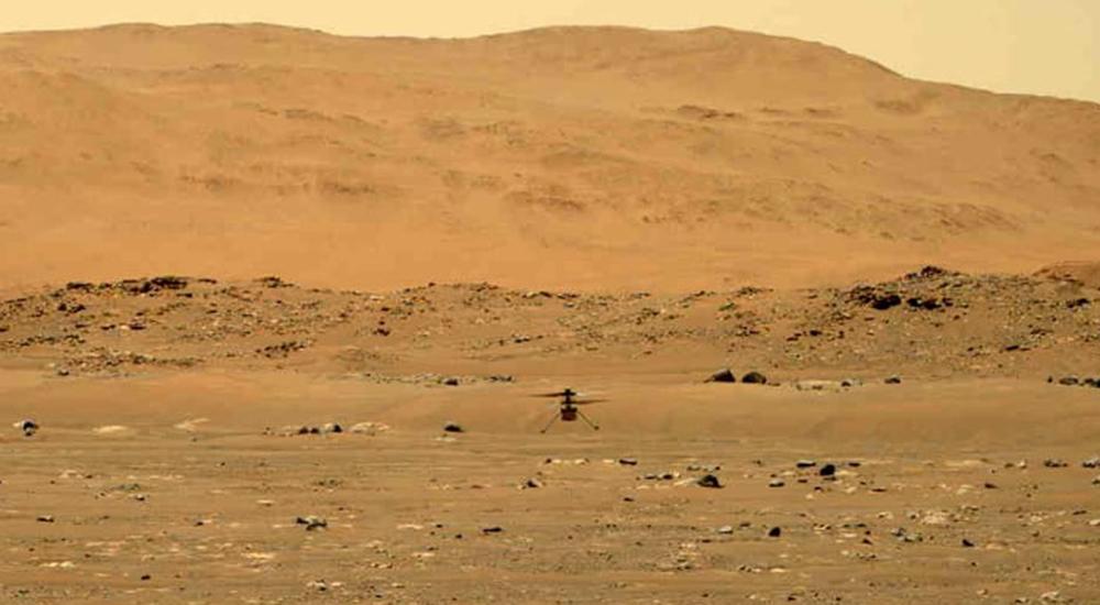 नासाको हेलिकप्टर मंगलग्रह पुर्याइयो, ३० सेकेण्डमा तीन मिटरकाे सफल उडान