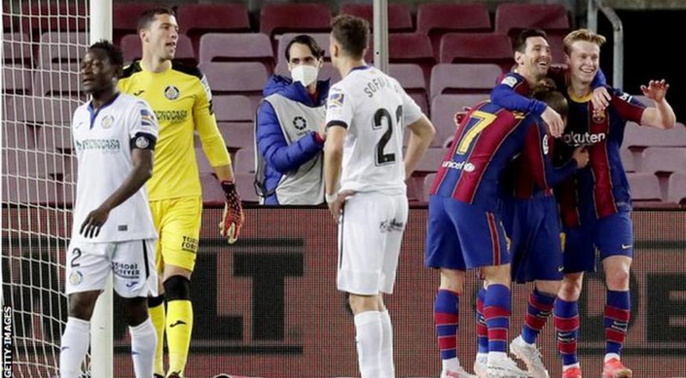 ला लिगामा बार्सिलोनाले गेटाफेलाई हराउँदा मेस्सीको दुई गोल