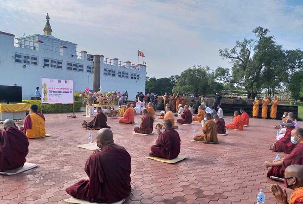 लुम्बिनी : महामारीले औपचारिकतामा सीमित बुद्धजयन्ती