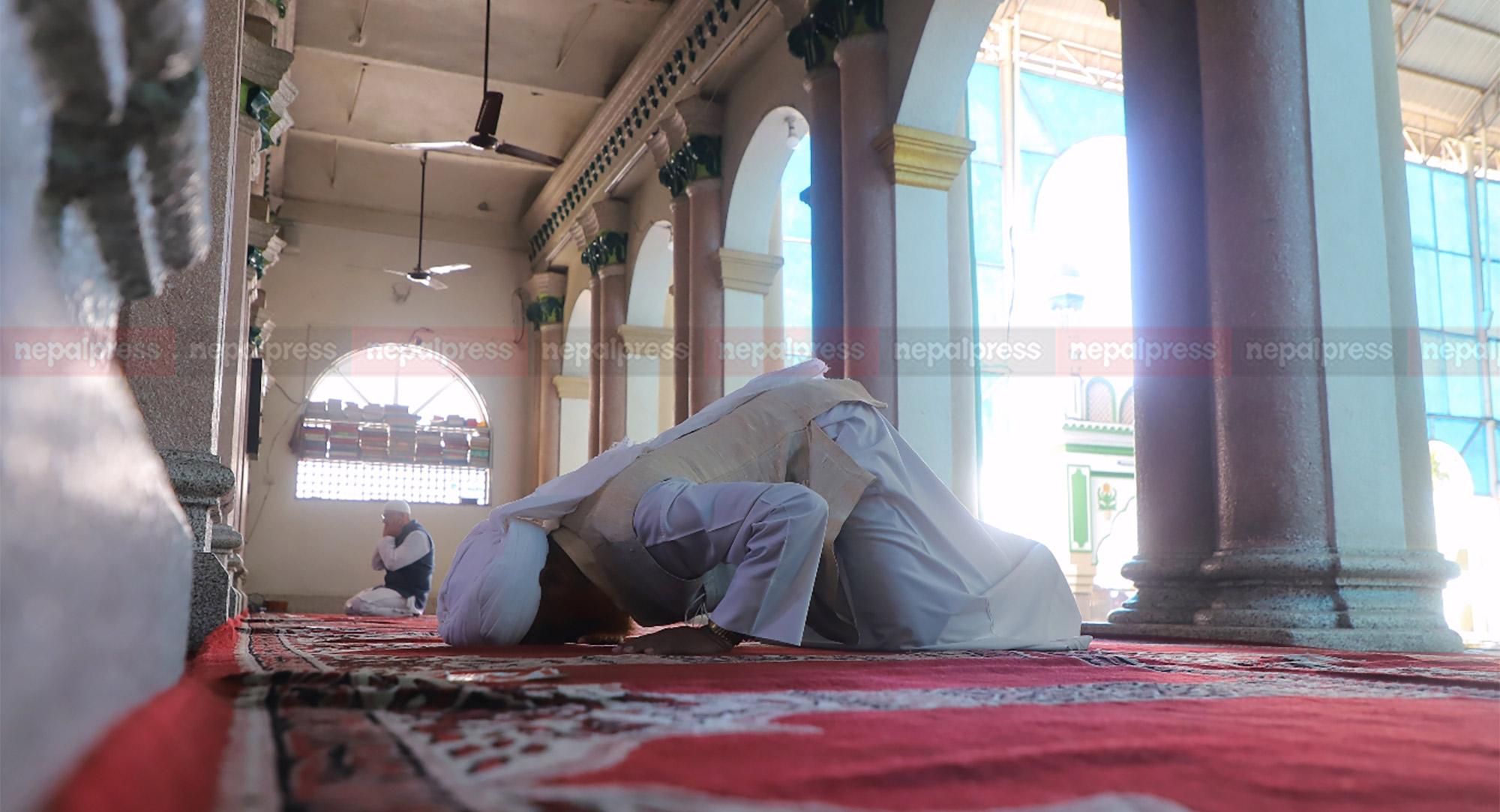 सुनसान मस्जिदमा नमाज