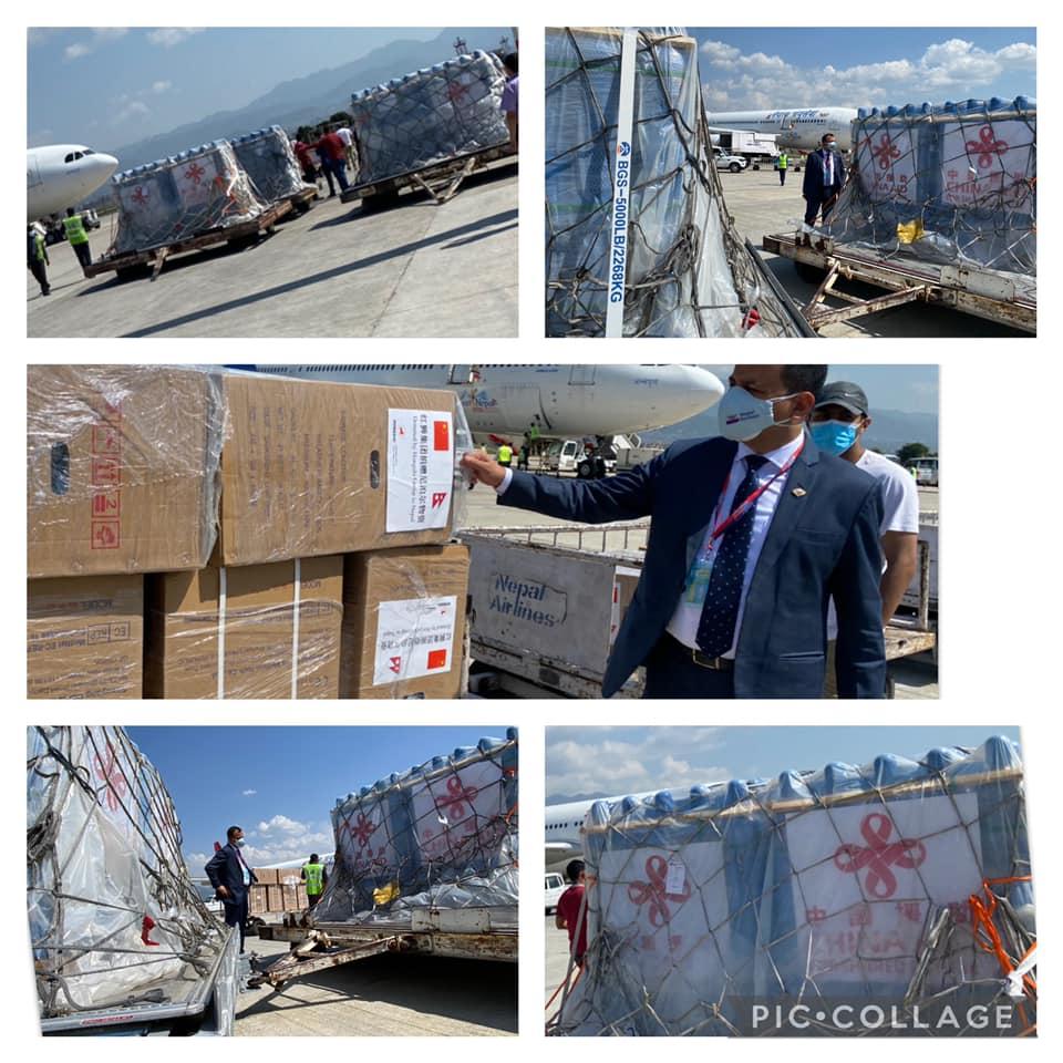 चीनबाट २ दिनमा ९७५ सिलिन्डरसहित १५७ अक्सिजन कन्सन्टेटर जहाजबाट भित्रियो