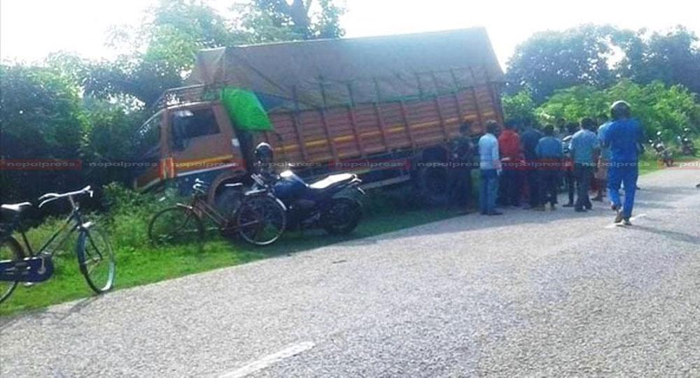 ट्रककाे ठक्करबाट सप्तरीमा दम्पतीकाे मृत्यु