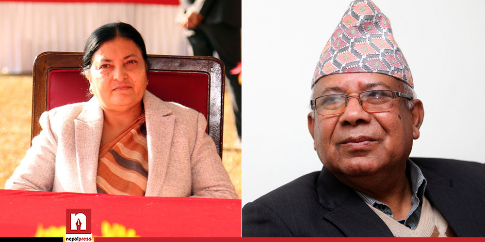 देउवालाई भेटेपछि माधव नेपाल सिधै राष्ट्रपति भवनमा