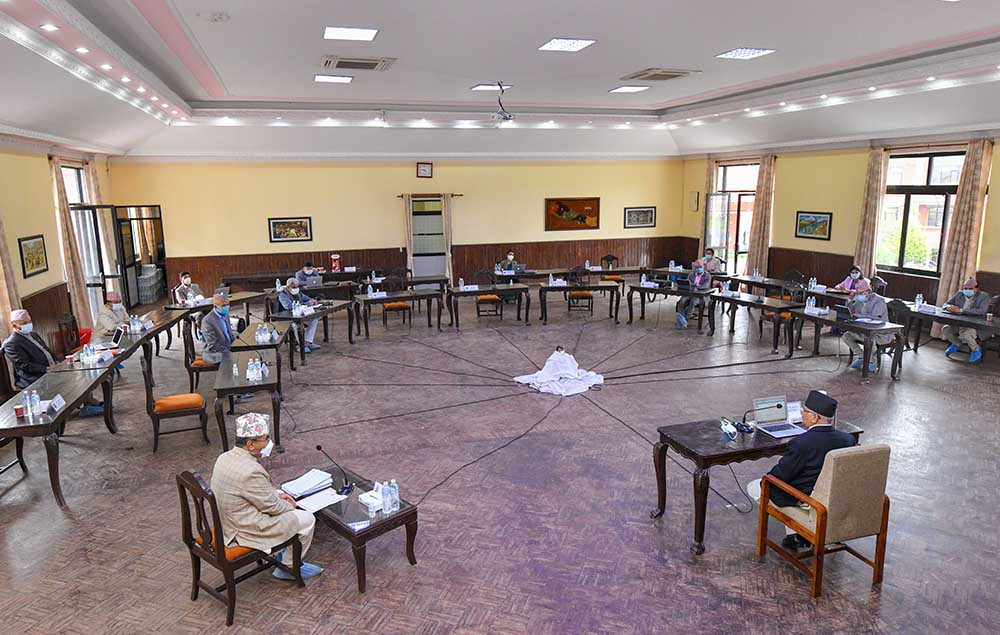 मन्त्रिपरिषद बैठक: संसद अधिवेशन जेठ ९ मा, धारा ७६ (५) को सरकार गठन प्रक्रियामा जाने