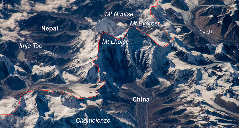 चीनले सगरमाथा चुचुरोमा 'सीमा विभाजनको रेखा' कोर्ने