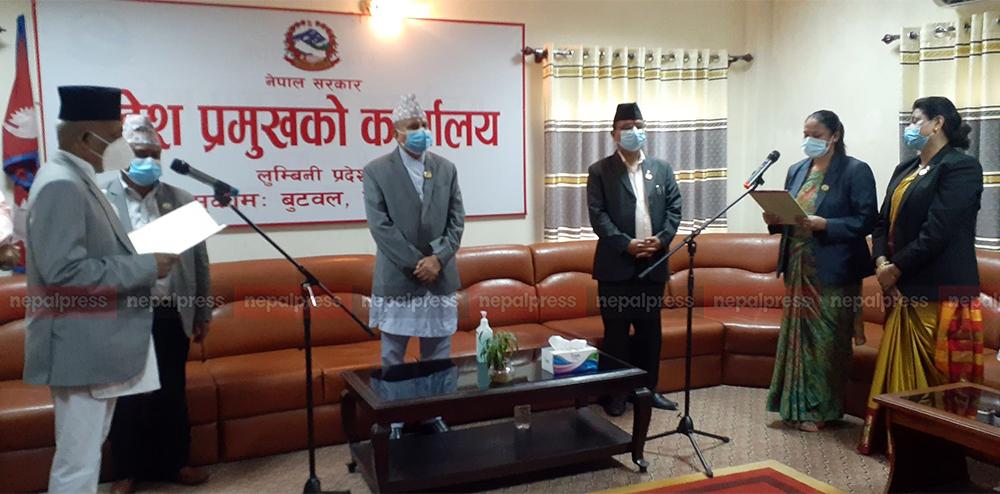 लुम्बिनीमा दुई मन्त्रीको पुनर्नियुक्ति