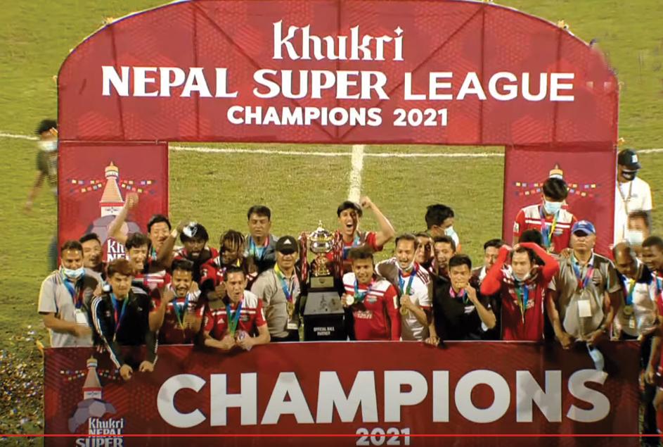 नेपाल सुपर लिग फुटबलको उपाधि काठमाडौं रेजर्सलाई