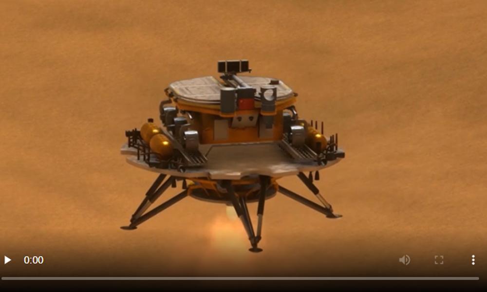 मंगल सतहमा अवतरण गर्नुअघि चिनियाँ यानले झ्याल खोल्यो, दुईसाताभित्र ल्यान्डिङ तयारी
