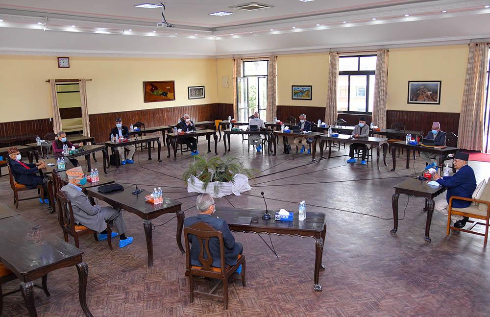 एमाले आकस्मिक स्थायी कमिटी बैठक : कोरोना नियन्त्रण र लुम्बिनी राजनीतिबारे 'ब्रिफिङ'