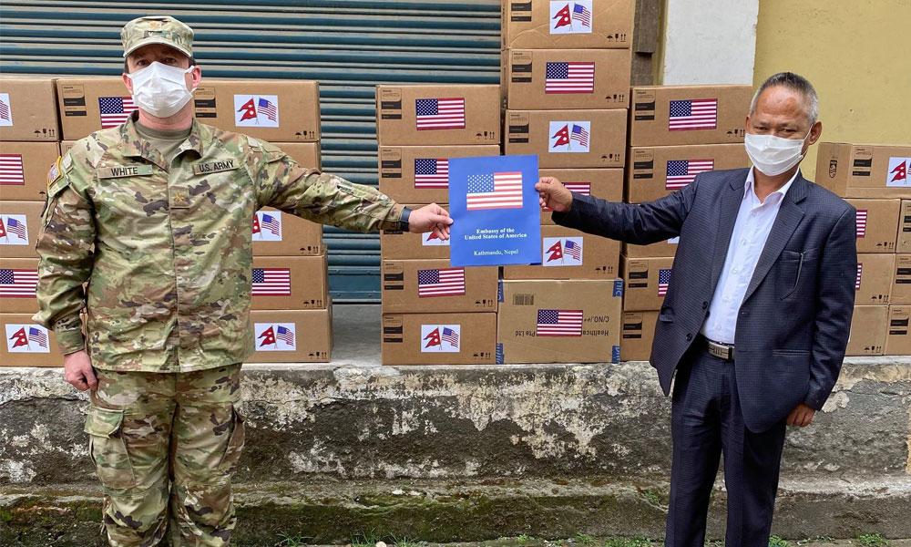 अमेरिकी रक्षा मन्त्रालयद्वारा नेपाललाई ३६ करोडको स्वास्थ्य सामाग्री प्रदान