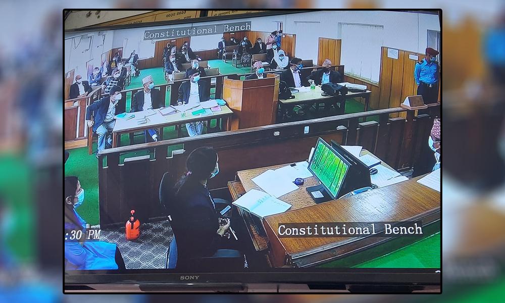 संवैधानिक इजलासमा पुनः विवाद, सरकार पक्षका वकिलद्वारा निवेदन पेस (निवेदनसहित)