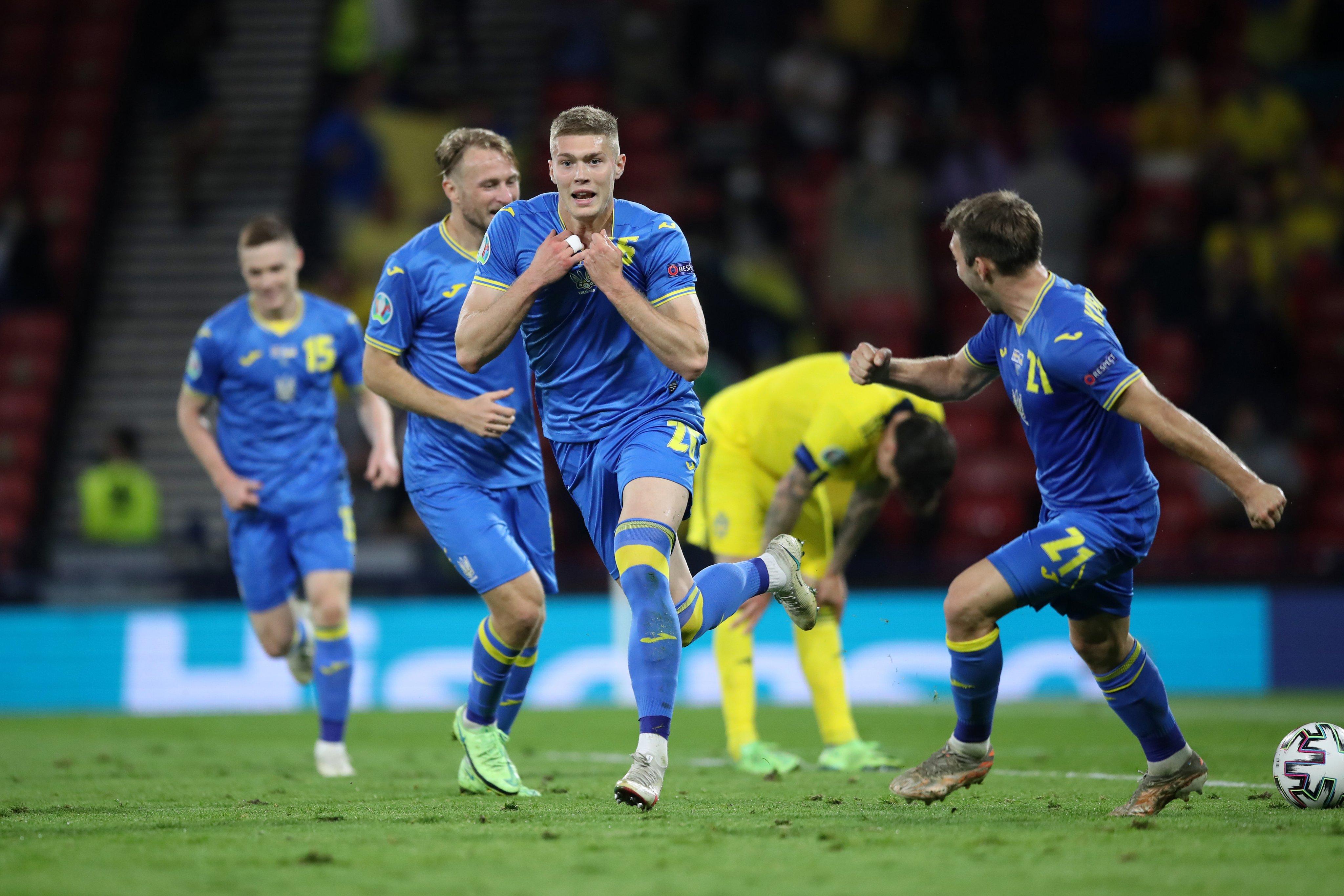स्वीडेनलाई हराउँदै युक्रेन क्वार्टरफाइनलमा