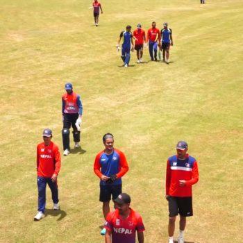 नेपाली टोलीले सुरु गर्यो त्रिकोणात्क क्रिकेट श्रृखंलाको तयारी (भिडियो)