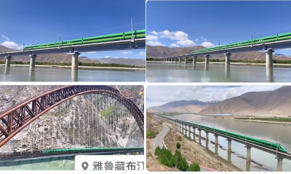 चीनद्वारा तिब्बतको उचाइमा द्रुत गतिको बुलेट रेलको सफल परीक्षण