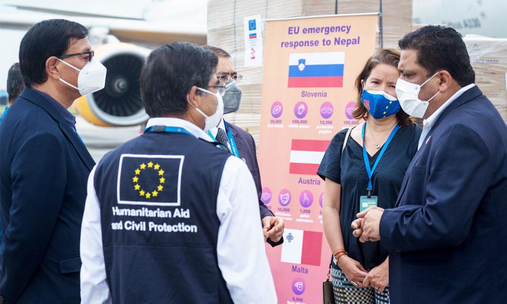 तीन युरोपेली मुलुकद्वारा नेपाललाई स्वास्थ्य सामग्री प्रदान