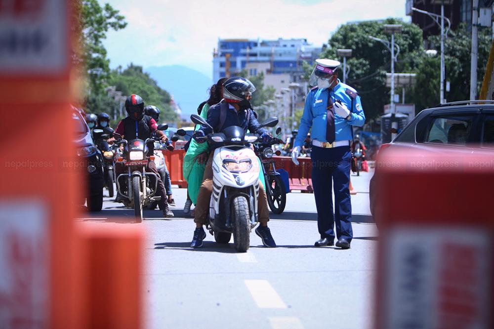 निषेधाज्ञा उल्लंघन गर्ने २ हजार बढी सवारीसाधन प्रहरीको नियन्त्रणमा